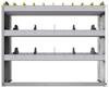 "24-4336-3 Square back bin separator combo shelf unit 43""Wide x 13.5""Deep x 36""High with 3 shelves"