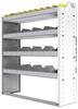 "24-4348-4 Square back bin separator combo shelf unit 43""Wide x 13.5""Deep x 48""High with 4 shelves"