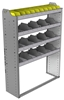 "24-4358-4 Square back bin separator combo shelf unit 43""Wide x 13.5""Deep x 58""High with 4 shelves"