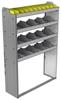 "24-4363-4 Square back bin separator combo shelf unit 43""Wide x 13.5""Deep x 63""High with 4 shelves"