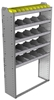 "24-4372-5 Square back bin separator combo shelf unit 43""Wide x 13.5""Deep x 72""High with 5 shelves"