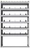 "24-4372-6 Square back bin separator combo shelf unit 43""Wide x 13.5""Deep x 72""High with 6 shelves"