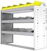 "24-4536-3 Square back bin separator combo shelf unit 43""Wide x 15.5""Deep x 36""High with 3 shelves"
