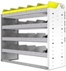 "24-4536-4 Square back bin separator combo shelf unit 43""Wide x 15.5""Deep x 36""High with 4 shelves"