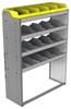 "24-4558-4 Square back bin separator combo shelf unit 43""Wide x 15.5""Deep x 58""High with 4 shelves"