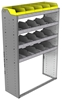 "24-4563-4 Square back bin separator combo shelf unit 43""Wide x 15.5""Deep x 63""High with 4 shelves"