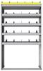 "24-4572-5 Square back bin separator combo shelf unit 43""Wide x 15.5""Deep x 72""High with 5 shelves"