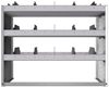 "24-4836-3 Square back bin separator combo shelf unit 43""Wide x 18.5""Deep x 36""High with 3 shelves"