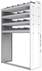 "24-4836-4 Square back bin separator combo shelf unit 43""Wide x 18.5""Deep x 36""High with 4 shelves"