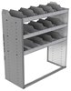 "24-4848-3 Square back bin separator combo shelf unit 43""Wide x 18.5""Deep x 48""High with 3 shelves"