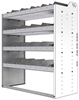 "24-4848-4 Square back bin separator combo shelf unit 43""Wide x 18.5""Deep x 48""High with 4 shelves"