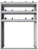 "24-4858-3 Square back bin separator combo shelf unit 43""Wide x 18.5""Deep x 58""High with 3 shelves"