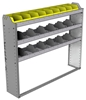 "24-5148-3 Square back bin separator combo shelf unit 58.5""Wide x 11.5""Deep x 48""High with 3 shelves"