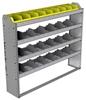 "24-5148-4 Square back bin separator combo shelf unit 58.5""Wide x 11.5""Deep x 48""High with 4 shelves"