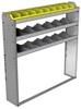 "24-5158-3 Square back bin separator combo shelf unit 58.5""Wide x 11.5""Deep x 58""High with 3 shelves"