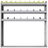 "24-5158-3 Square back bin separator combo shelf unit 58.5""Wide x 11.5""Deep x 58""High with 3 shelves"