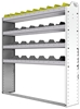 "24-5158-4 Square back bin separator combo shelf unit 58.5""Wide x 11.5""Deep x 58""High with 4 shelves"
