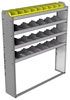 "24-5163-4 Square back bin separator combo shelf unit 58.5""Wide x 11.5""Deep x 63""High with 4 shelves"