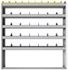 "24-5163-5 Square back bin separator combo shelf unit 58.5""Wide x 11.5""Deep x 63""High with 5 shelves"
