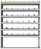 "24-5172-6 Square back bin separator combo shelf unit 58.5""Wide x 11.5""Deep x 72""High with 6 shelves"