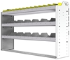 "24-5336-3 Square back bin separator combo shelf unit 58.5""Wide x 13.5""Deep x 36""High with 3 shelves"