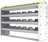 "24-5336-4 Square back bin separator combo shelf unit 58.5""Wide x 13.5""Deep x 36""High with 4 shelves"