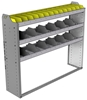 "24-5348-3 Square back bin separator combo shelf unit 58.5""Wide x 13.5""Deep x 48""High with 3 shelves"