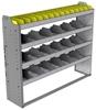 "24-5348-4 Square back bin separator combo shelf unit 58.5""Wide x 13.5""Deep x 48""High with 4 shelves"