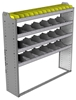 "24-5358-4 Square back bin separator combo shelf unit 58.5""Wide x 13.5""Deep x 58""High with 4 shelves"