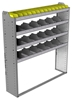 "24-5363-4 Square back bin separator combo shelf unit 58.5""Wide x 13.5""Deep x 63""High with 4 shelves"