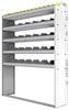 "24-5372-5 Square back bin separator combo shelf unit 58.5""Wide x 13.5""Deep x 72""High with 5 shelves"