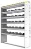 "24-5372-6 Square back bin separator combo shelf unit 58.5""Wide x 13.5""Deep x 72""High with 6 shelves"