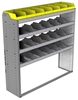 "24-5558-4 Square back bin separator combo shelf unit 58.5""Wide x 15.5""Deep x 58""High with 4 shelves"