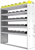 "24-5563-5 Square back bin separator combo shelf unit 58.5""Wide x 15.5""Deep x 63""High with 5 shelves"
