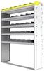 "24-5572-5 Square back bin separator combo shelf unit 58.5""Wide x 15.5""Deep x 72""High with 5 shelves"