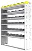 "24-5572-6 Square back bin separator combo shelf unit 58.5""Wide x 15.5""Deep x 72""High with 6 shelves"