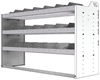 "24-5836-3 Square back bin separator combo shelf unit 58.5""Wide x 18.5""Deep x 36""High with 3 shelves"