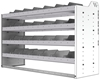 "24-5836-4 Square back bin separator combo shelf unit 58.5""Wide x 18.5""Deep x 36""High with 4 shelves"
