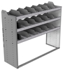"24-5848-3 Square back bin separator combo shelf unit 58.5""Wide x 18.5""Deep x 48""High with 3 shelves"
