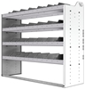 "24-5848-4 Square back bin separator combo shelf unit 58.5""Wide x 18.5""Deep x 48""High with 4 shelves"