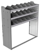 "24-5858-3 Square back bin separator combo shelf unit 58.5""Wide x 18.5""Deep x 58""High with 3 shelves"
