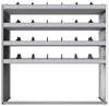 "24-5858-4 Square back bin separator combo shelf unit 58.5""Wide x 18.5""Deep x 58""High with 4 shelves"