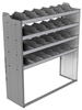 "24-5863-4 Square back bin separator combo shelf unit 58.5""Wide x 18.5""Deep x 63""High with 4 shelves"