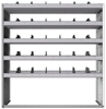 "24-5863-5 Square back bin separator combo shelf unit 58.5""Wide x 18.5""Deep x 63""High with 5 shelves"