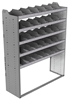 "24-5872-5 Square back bin separator combo shelf unit 58.5""Wide x 18.5""Deep x 72""High with 5 shelves"