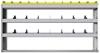 "24-6136-3 Square back bin separator combo shelf unit 67""Wide x 11.5""Deep x 36""High with 3 shelves"