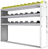 "24-6148-3 Square back bin separator combo shelf unit 67""Wide x 11.5""Deep x 48""High with 3 shelves"