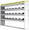 "24-6148-4 Square back bin separator combo shelf unit 67""Wide x 11.5""Deep x 48""High with 4 shelves"