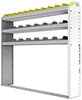"24-6158-3 Square back bin separator combo shelf unit 67""Wide x 11.5""Deep x 58""High with 3 shelves"