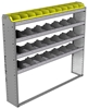 "24-6158-4 Square back bin separator combo shelf unit 67""Wide x 11.5""Deep x 58""High with 4 shelves"